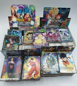 Lot de 100 Cartes Sans Double + Brillantes  DRAGON BALL SUPER CARD GAME FR