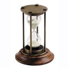 "Nautical Brass Hourglass 5"" Bronze Finish 30 Minute Sand Timer Marine Sandglass"
