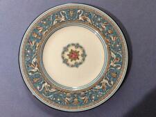 "Wedgwood Turquoise Florentine bone china 8"" salad plate green mark W2714"