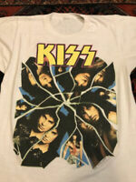 VTG Kiss Crazy Nights T Shirt Concert Tour Rock Metal 1987 Gene.