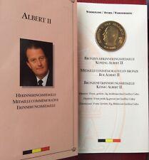 Belgique - Magnifique médaille Commémorative du Roi Albert II en Bronze - Folder