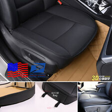 1X Black Front Seat Cover PU leather & bamboo charcoal Lining Universal from USA