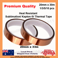 Heat Proof Thermal Tape Heat Resistant Sublimation Adhesive 20mm*33m 1/3/5/10pcs