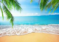 Beautiful Tropical Beach Poster Size A4 / A3 Beach Nature Poster Gift #8557