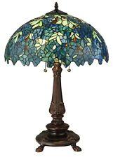 "Meyda Lighting 26""H Nightfall Wisteria Table Lamp Blue Green Home Decor"