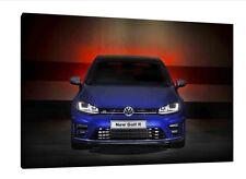 VW Golf R - 30x20 pulgadas lienzo arte enmarcado cuadro impresión Volkswagen Mk7