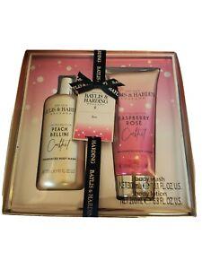 BAYLIS & HARDING Ltd Ed, Peach Bellini BODY WASH & Raspberry Rose Body LOTION