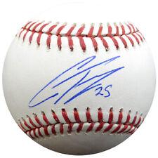 "GLEYBER TORRES AUTOGRAPHED SIGNED MLB BASEBALL YANKEES ""#25"" BECKETT 133469"