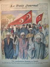EGYPTE LE CAIRE MANIFESTATION FEMINISTE GUI PORTE-BONHEUR LE PETIT JOURNAL 1922