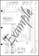 1975 Ford Courier Foldout Electrical Wiring Diagram Original OEM Schematic 75