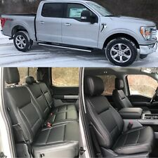 2021 Ford F 150 Super Crew Black Katzkin Leather Replacement Seat Covers