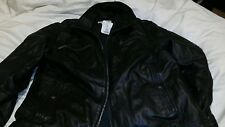 Michael Kors Mens Blac Leather Jacket XL $395 - with DEFECT
