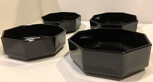 ARCOROC Octime Black Glass Cereal Bowls Set of 4 (3 Sets Available)