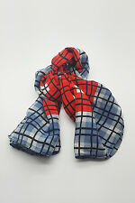 """*GIVENCHY* VINTAGE RED WHITE AND BLUE SILK SCARF 30"""""""