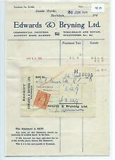 EPHEMERA -090- SMALL- EDWARDS & BRYNING, PRINTERS, ROCHDALE STATEMENT - JUN 1948