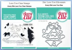 Avery Elle Photopolymer Clear Stamp & Die Combo ~ LAVA YOU Valentine ~ST/D-17-44