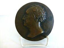Medaille Scheibe Messing Konterfei Gesicht Goethe Deko