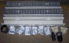 "Mea-Josam CPS303-10 - 10' Fiberglass Trench Drain Kit - 4"" Wide, Galv Grate"