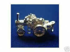 LOOK Lawn Tractor Silver Pendant Charm Jewelry