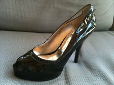 Guess Louisa Women's Open Peep Toe Platforms Pumps High Heels Black Shoes