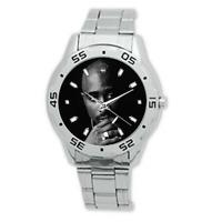 2Pac Tupac Shakur Stainless Steel Wrist Watch American Rapper Legend Smoking