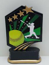 """Softball trophy resin-yellow ball color 5.5"""" (00029)"""