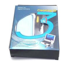 3 in 1 Cleaning Kit Includes Lens Cloth, Cleaning Fluid, Cleaning Brush Pen NEW