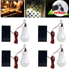Portable Solar Powered Light Panel Bulb LED Lighting Outdoor & Indoor USB Charge