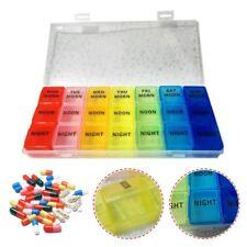 7 Day Weekly Pill Box Tablet Holder Medicine Dispenser Storage Organizer Case