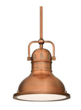 Copper Drum Pendant French Vintage Industrial Farmhouse Nautical Island Light