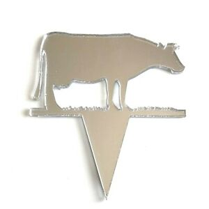 Cow Shaped Cake & Cupcake Toppers, Many Colours & Sizes, Plain or Engraved