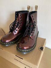Dr Martens Vegan Size 5 38 Oxblood Chrome Metallic Boots