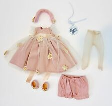 Vogue Ginny Doll Outfit~PINK FORMAL DRESS w/SHOES,PANTIES,TIGHTS~Repro of 1956