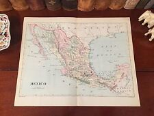 Fine Original 1886 Antique Map MEXICO Acapulco Vera Cruz Tampico Tuxpan Alvarado