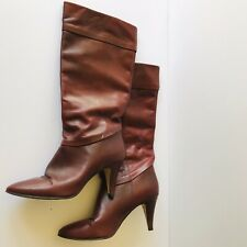 "Vintage Ettienne Aigner Boots 3"" Heel Size 7 1/2 N Burgundy Great Condition"