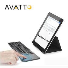 A18 Pocket Twice Folding Mini Keyboard Metal Bluetooth Foldable Wireless Keypad