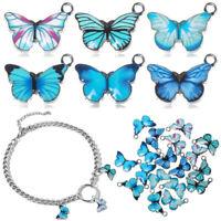 Schmuck von Hand Anhänger von Tieren Blaue Emaille Schmetterling Charme