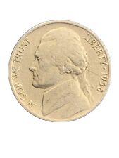 1938 D Jefferson Nickel-Key Date- Very Low Mintage-5.3 Million, Nice Circulated