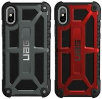 Genuine UAG MONARCH  Feather-Light Rugged Case for iPhone X, Xs Black, Crimson