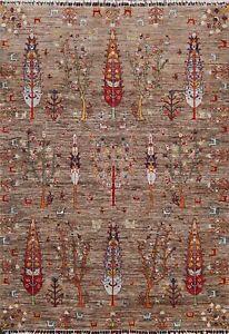 Vegetable Dye Tribal Super Kazak Oriental Area Rug Hand-knotted Geometric 5'x7'