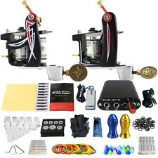 Starter Tattoo Kit  2 Pro tattoo Machines Gun  Power Box Foot Pedal TK201-10