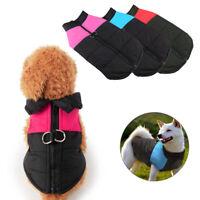 Waterproof Warm Winter Dog Coats Clothes Dog Padded Vest Pet Jacket Small/ Large