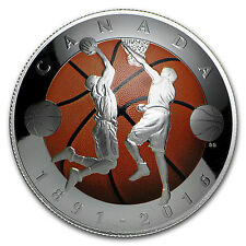 2016 Canada 1 oz Silver $25 Invention of Basketball (Domed Coin) - SKU #101915