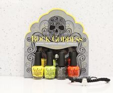 O.P.I Mini ROCK GODDESS OPI Halloween Nail Lacquer Kit Set 4 FREE Skull Bracelet