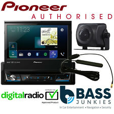 "Pioneer AVH-Z7100DAB 7"" Flip Screen DAB Carplay DVD Bluetooth & Reverse Camera"