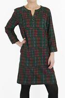 Seasalt Womens Black Multi Coloured Film Review Geometric Dress ¾ Sleeves Ladies