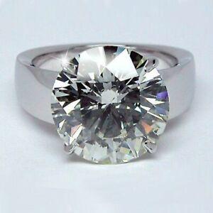7.00 Ct Round Diamond Solitaire Men's Engagement Ring 14K White Gold Finish