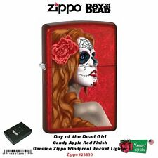 Zippo Day of the Dead Girl, Candy Apple Red Lighter, Windproof  #28830