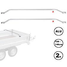 2x Anhänger Flachplanenbügel Aluminium verstellbar 132 - 204 cm Knaufschraube
