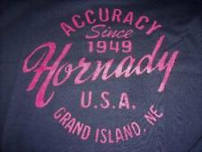 New Licensed Hornady Men's T-Shirt Circle Logo  Size XL   Reloading_____S28